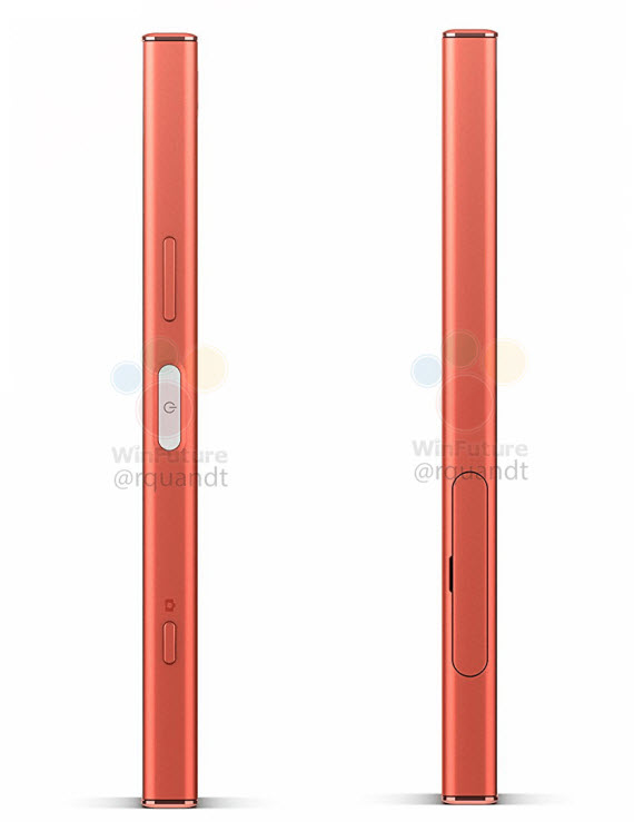 xperia xz1 compact pink sides