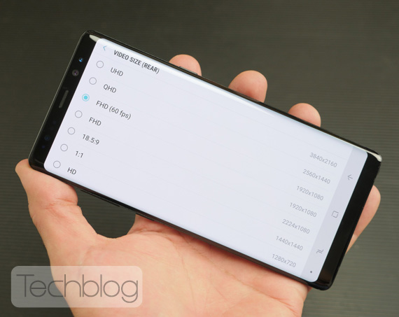 Galaxy Note 8 hands-on Techblog