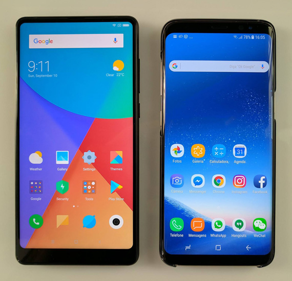 Xiaomi Mi Mix 2 vs Galaxy S8