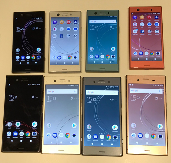 Xperia XZ1 family and XZ1 compact