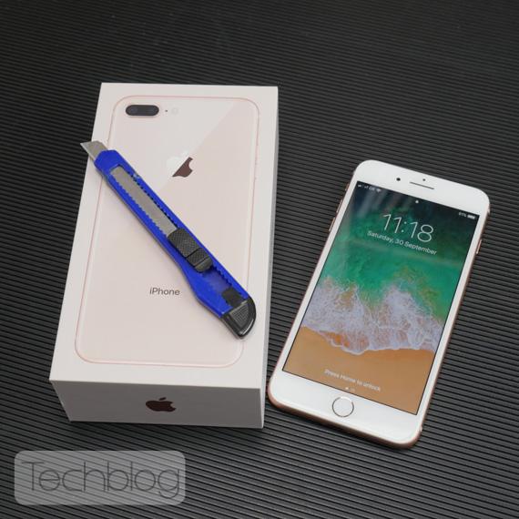 iPhone 8 Plus unboxing Techblog