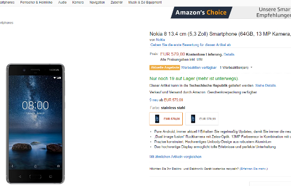 nokia 8 germany