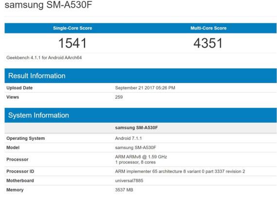 samsung sm-a530f