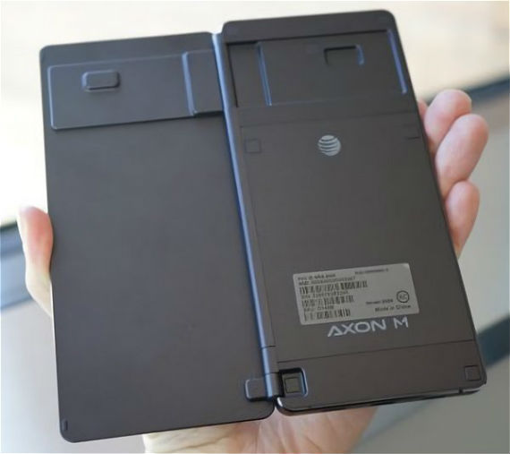 ZTE AXXON M USA hands-on back