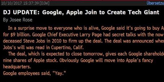 google apple buyout