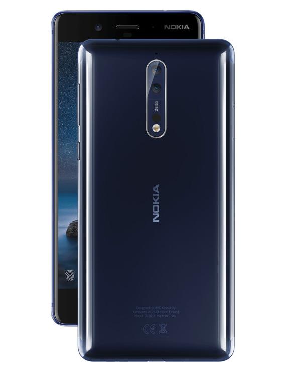 Nokia 8 Tempered Blue Polished