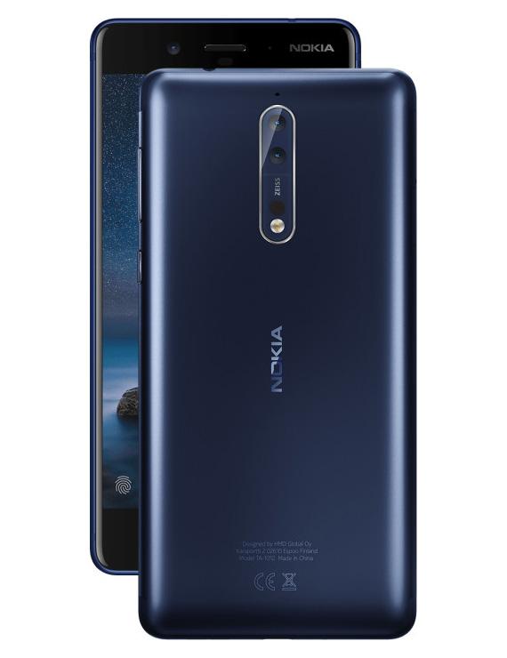 Nokia 8 Tempered Blue Satin