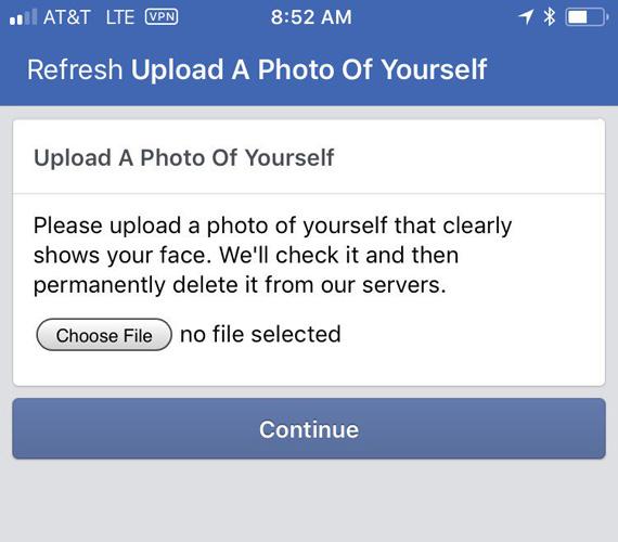 facebook refresh upload picture
