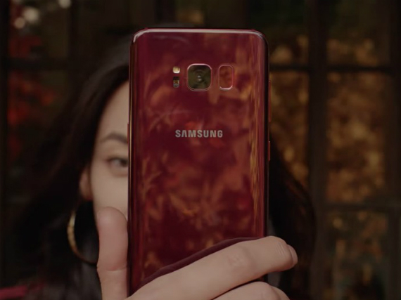 galaxy s8 burgundy red
