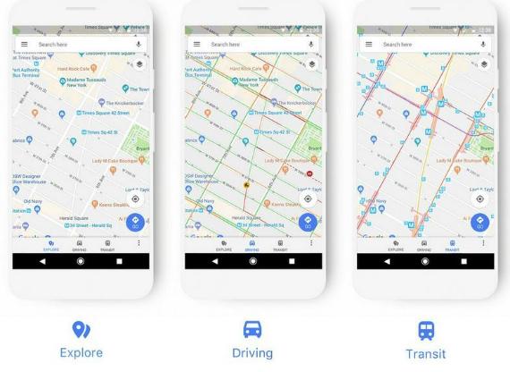 Google Maps Neo Ui Kai Xrwmata Gia Eykoloterh Plohghsh