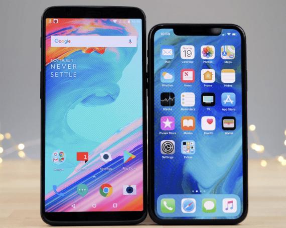 iphone x vs oneplus 5t