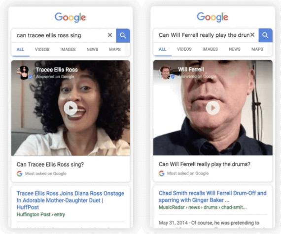 google celebrities