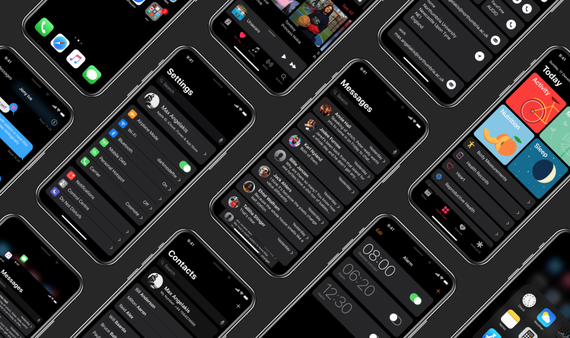 iphone x dark mode concept 1