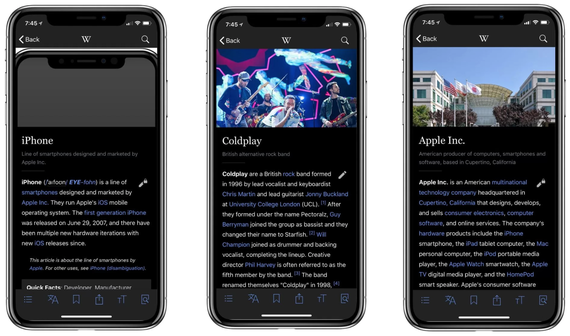 iphone x wikipedia dark mode