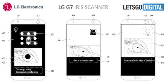 lg g7 possible iris scanner 1