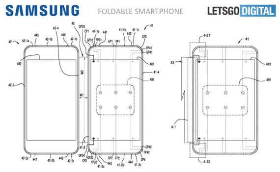 samsung foldable phone patent 1