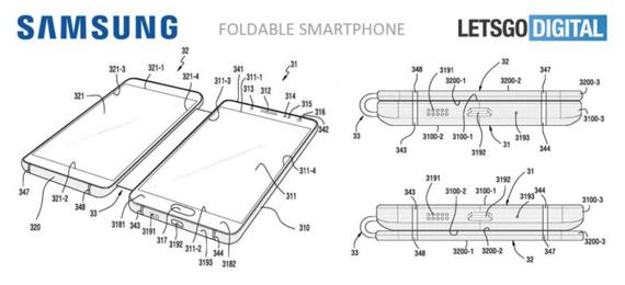 samsung foldable phone patent 2