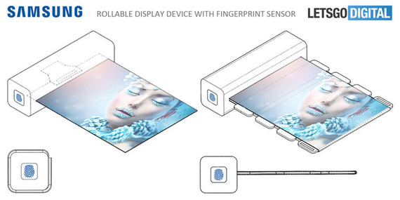 Samsung Rollable Display Fingerprint Sensor 1
