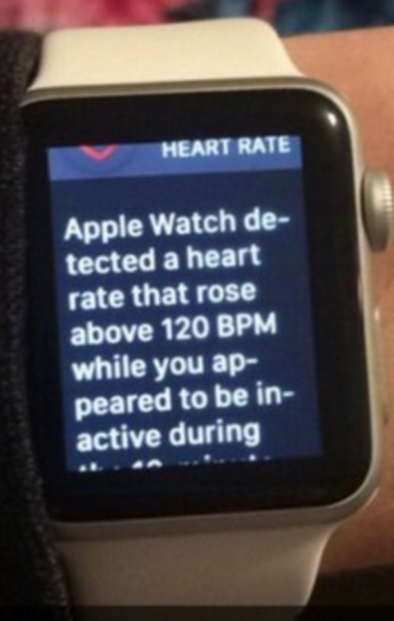 apple watch detects 120bpm after nfl game