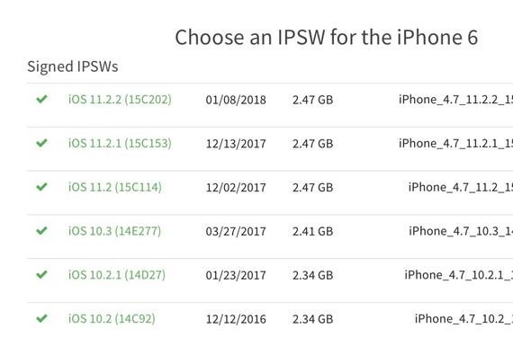 iphone 6 ios versions