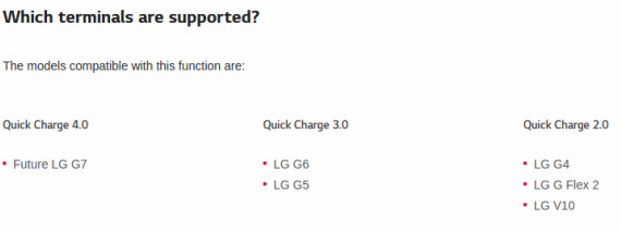 lg g7 quick charge