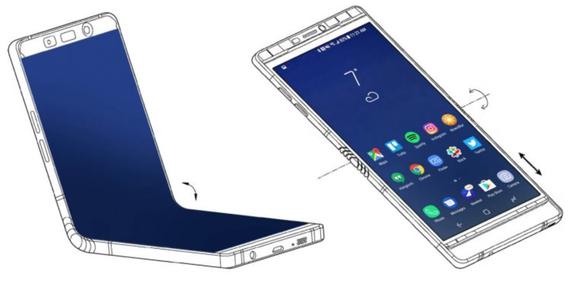Η Samsung παρουσίασε το Galaxy X σε λίγους, διέρρευσε πατέντα που το φανερώνει; [CES 2018]