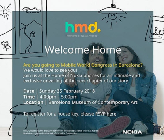 nokia invitation mwc2018