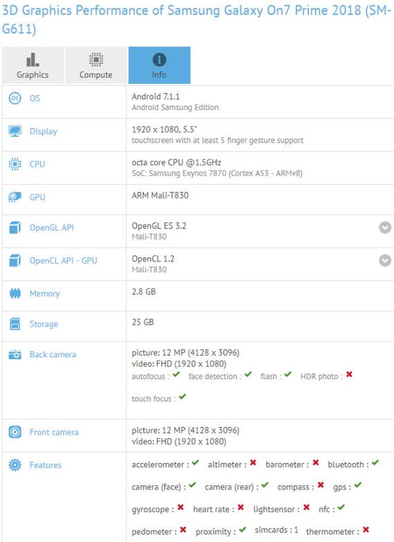 Galaxy J7 Prime (2018): Διέρρευσαν τα τεχνικά χαρακτηριστικά, χωρίς σημαντικές βελτιώσεις