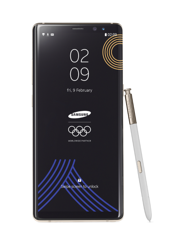 samsung galaxy note 8 winter olympics 2018 limited edition 1