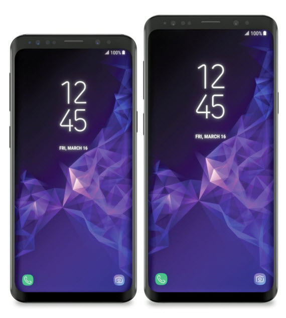 samsung galaxy s9 s9 plus render