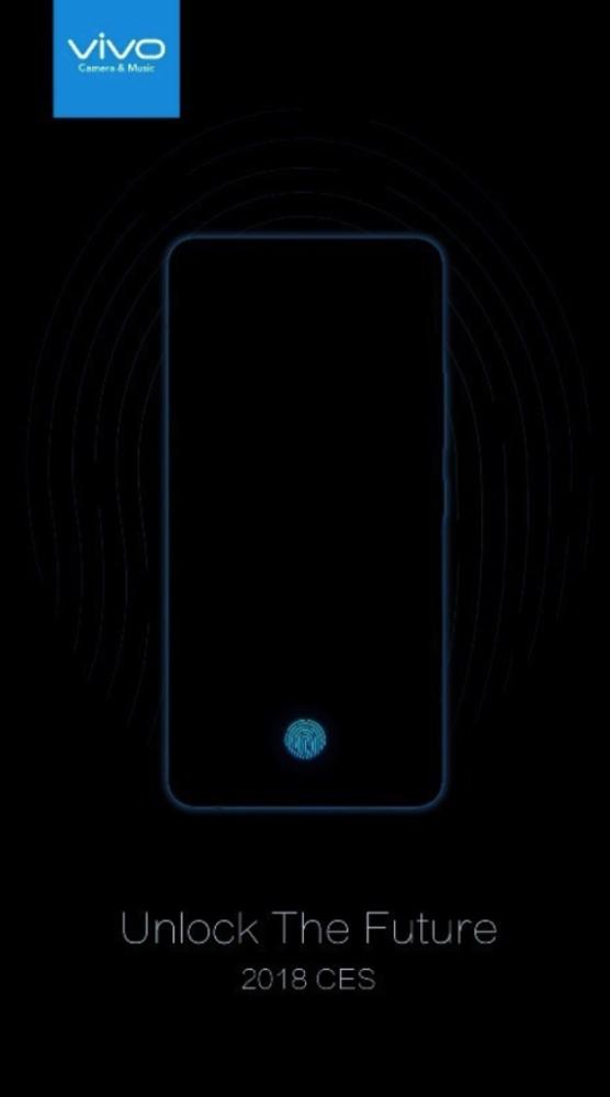 vivo in screen fingerprint scanner smartphone january 10 ces 2018 1