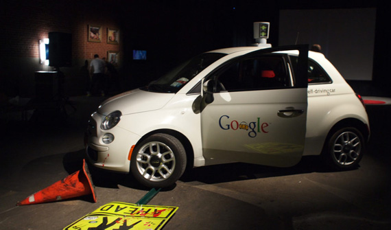 Fiat 500 google self-driving car