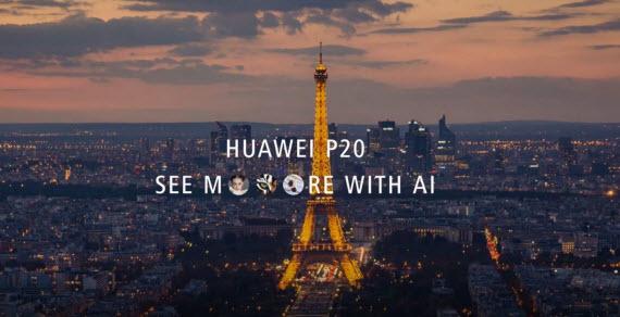 Huawei p20 teaser paris