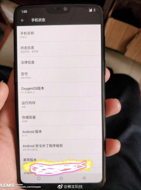 oneplus 6 leaked live photo 1