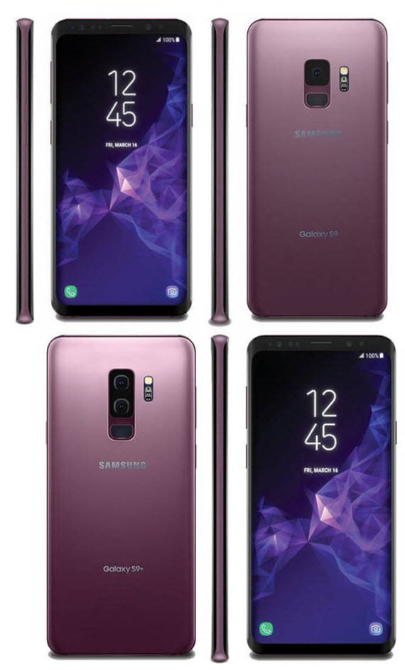 samsung galaxy s9 plus render lilac