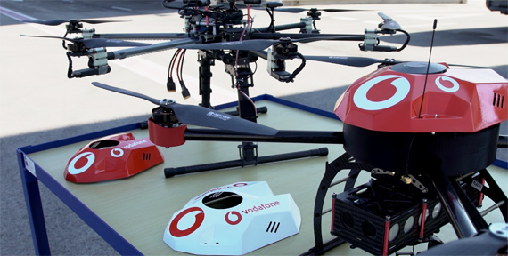 Vodafone RPS IoT technology for drones