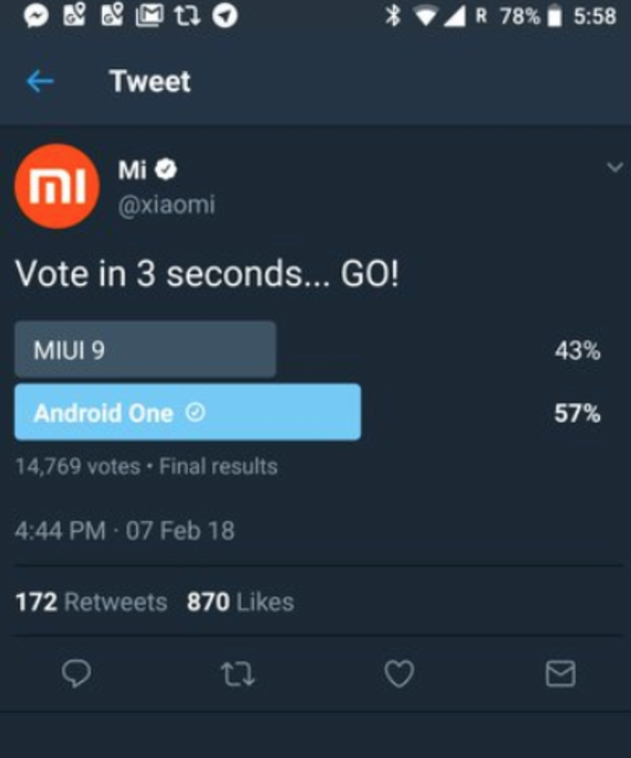 xiaomi removed poll miui android one