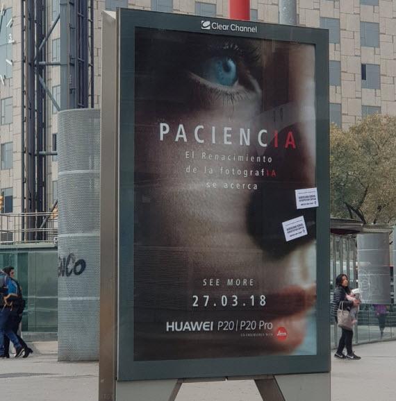 Huawei p20 pro billboard