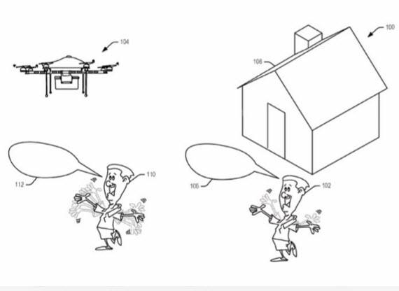 amazon patent reading drone