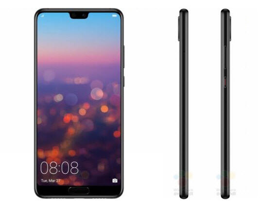 huawei p20 black front side