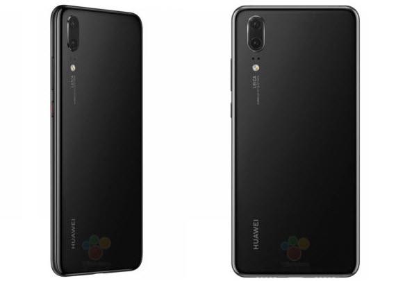 huawei p20 black rear