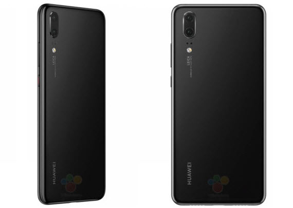 huawei p20 black rear