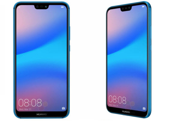 huawei p20 lite blue front