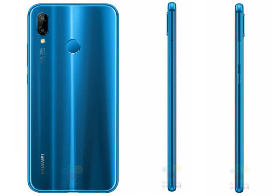 huawei p20 lite blue rear side
