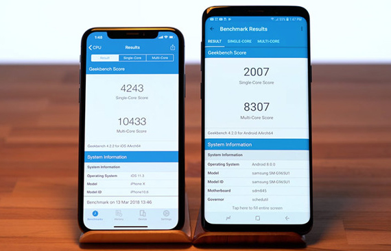 iphonex s9plus benchmark1