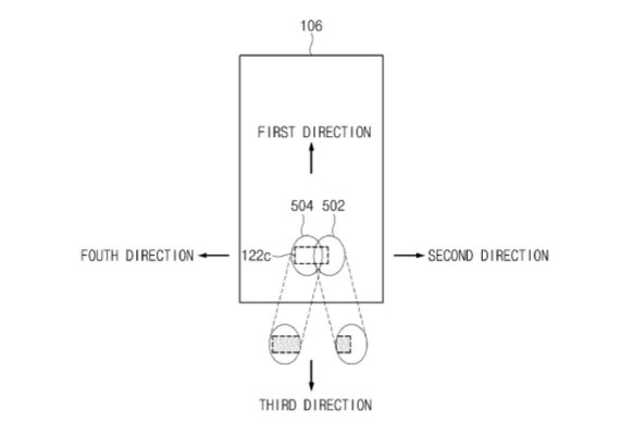 samsung in display patent