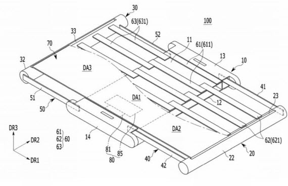 samsung patent expandable display