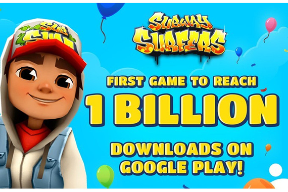 subway surfers first game to reach 1 bill downloads google play store