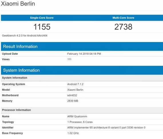 xiaomi berlin benchmark