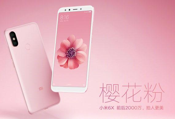 To Xiaomi Mi 6X